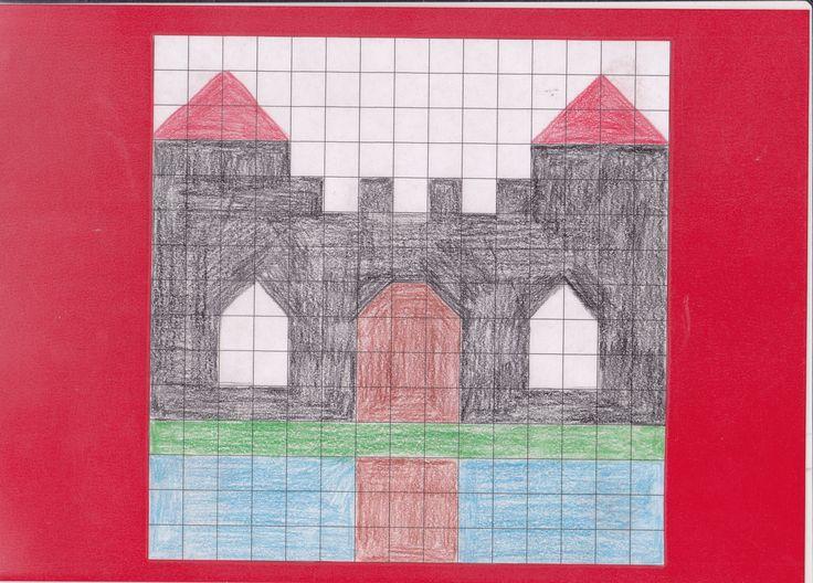 mozaiekplank kasteel