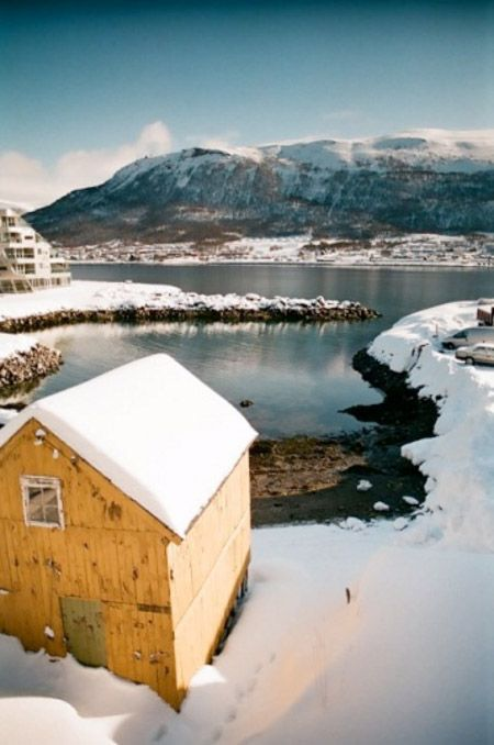norge: Random Pictures, Winter Cabins, Winter Holidays, Cabins Living, Snow Mountain, Yellow Barns, Let It Snow, Cozy Cabins, My Style
