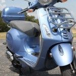 2015 Vespa Primavera 150 with the rack, top box, and front rack installed, only 365 miles, Price $4795.00 http://themotorcycleshopsa.com/2015-vespa-primavera-150/