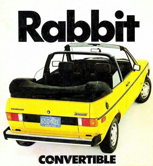 1982 Convertible Volkswagen Rabbit Want 1980s Vw German Engineering That S So Me Cabriolet Porsche