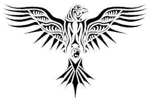 Celtic/ Viking design raven tattoo. I love this guy without the yin & yang. (would make a nice Viking heritage tattoo)