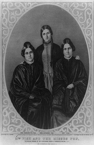 The Fox sisters were three sisters from New York who played an important role in the creation of Spiritualism: Leah (1831–1890), Margaret (also called Maggie) (1833–1893) and Kate (also called Catherine) Fox (1837–1892).