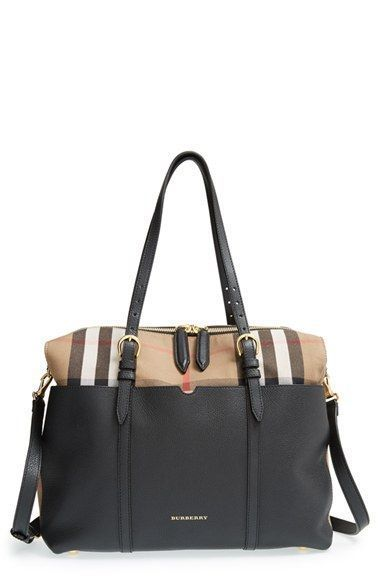 Dreamy diaper bag.... Burberry 'Mason - House Check' Diaper Bag available at #Nordstrom  #LolliandLullaby
