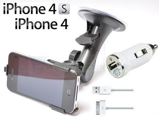 KFZ Autohalterung für iPhone 4 4S + Ladegerät