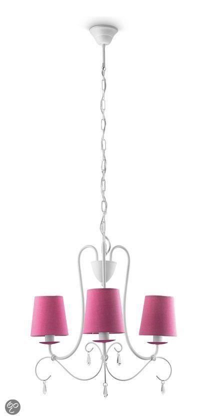 bol.com | Philips Mykidsroom Princess Kroonluchter - 3-Lichts - Roze | Wonen