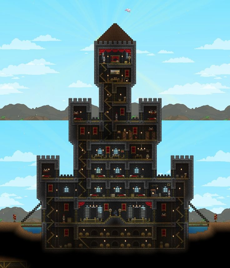 how to build roofs in terraria