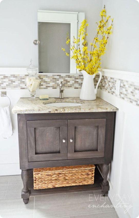 pottery barn inspired bathroom vanity