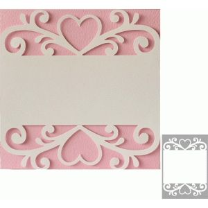 Silhouette Design Store - View Design #74407: 5x5 and 5x7 heart flourish card