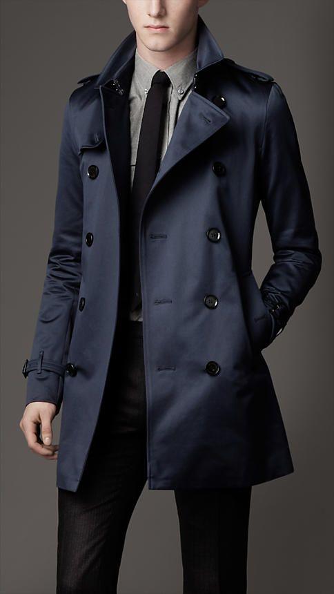 Burberry - A media eslora ALGODÓN PATRIMONIO Trench Coat