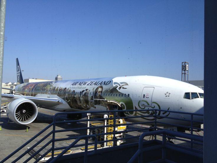 ZK-OKP Air NZ Hobbit Aircraft loading cargo