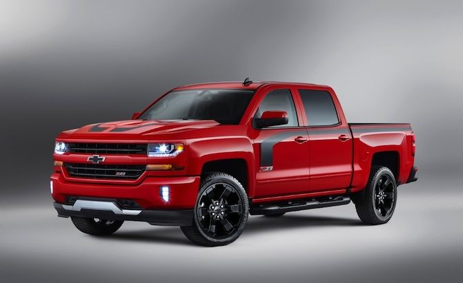 Chevrolet has unveiled more special edition models of its Silverado half-ton pickup for 2016. The 2016 Silverado Rally Edition (seen above) is inspired by street performance and packs a monochromatic exterior with black accents, body-side stripes, 20- or 22-inch black wheels and a muscular hood. Chevy says that these special edition trucks sell in one-third...