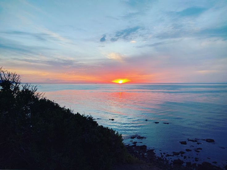 Hard to forget the sunset in Mornington a couple of nights ago...so spectacular. We only caught the last few moments after we scrambled for a car park and some human space to watch it up on the hill there. Great vantage point. Must go back there to Mornington Park 😄 #sunset #mornington #morningtonbeach #morningtonpark #victoria #australia #proyager #proyageraus #relax #unwind #travel #wander #explore #discover #welovesummer #sunset_pics