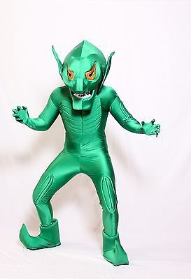 GREEN GOBLIN DELUXE COSTUME ADULT MASCOT FANCY DRESS OUTFIT