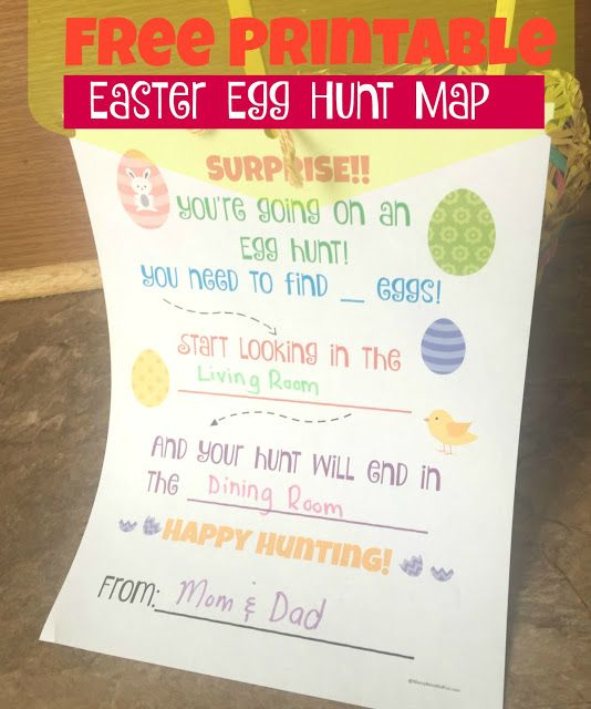 Messy, Beautiful, Fun: Free Easter Egg Hunt Printable