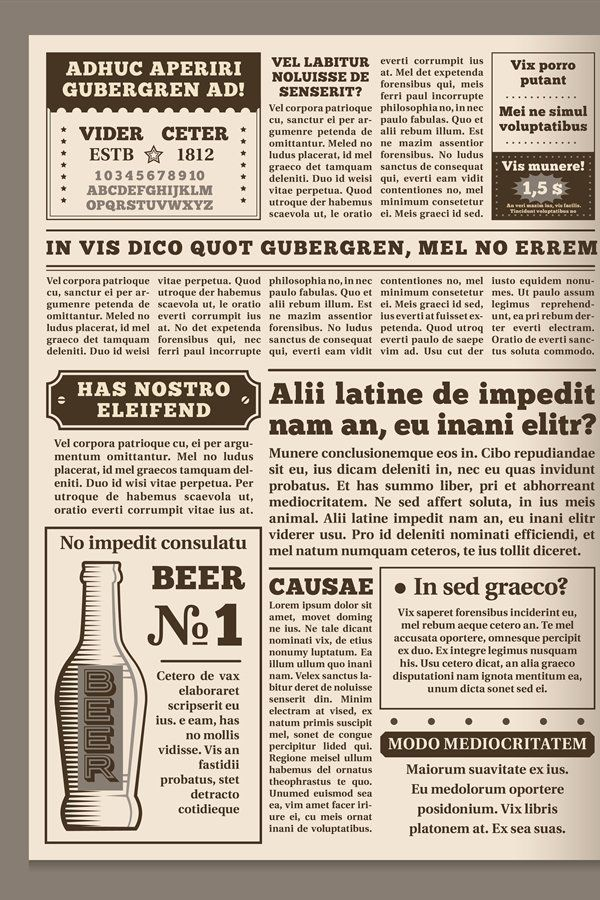 Vintage Newspaper Template Retro Newspapers Page Old News 994757 Objects Design Bundles In 2020 Newspaper Template Vintage Newspaper Newspapers