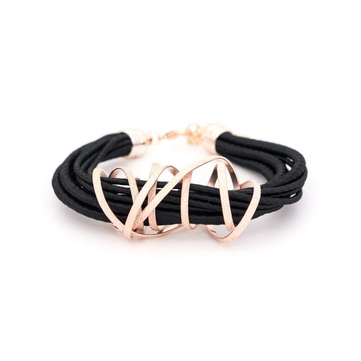 Bracelet bronze rose gold plated FLEVO www.bijoubox.gr #bijoubox #bracelet #bronze #rose #gold #handmade #greece #greek #jewelry #jwl