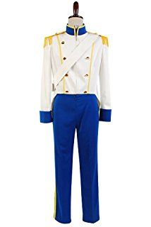 Sidnor The Little Mermaid 1989 Prince Eric Cosplay Costume Uniform Outfit Wedding Suit