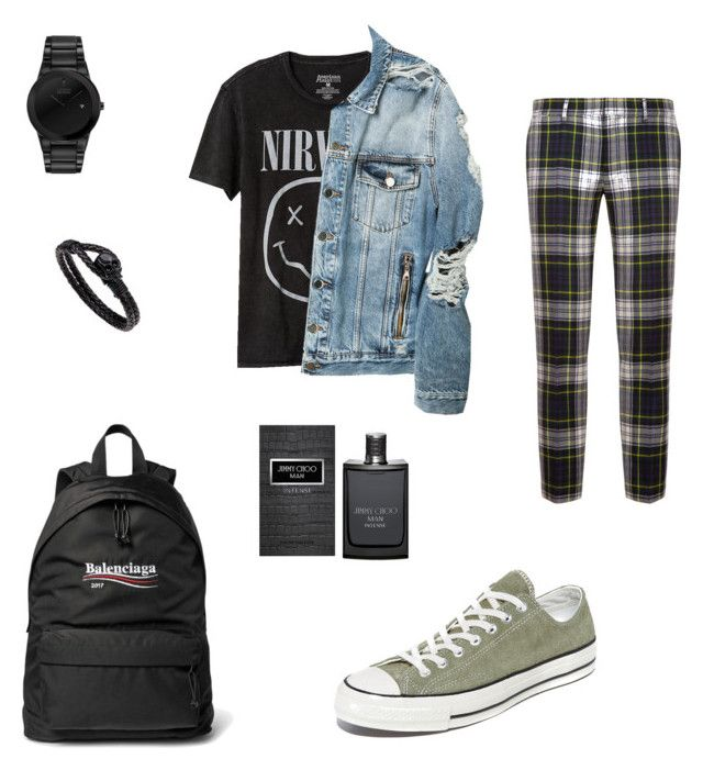 """Untitled #10"" by ithaafifah on Polyvore featuring Bally, Gap, Balmain, Converse, Citizen, Balenciaga, Jimmy Choo, men's fashion and menswear"