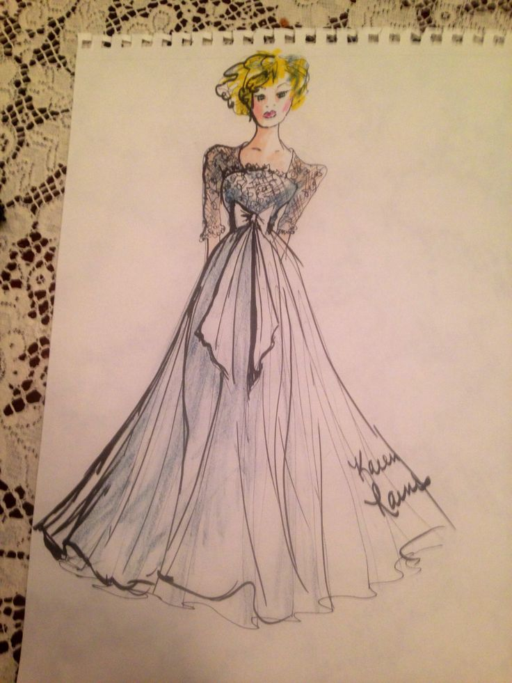 7 mejores imágenes de Wedding dress sketches en Pinterest   Bocetos ...