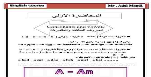 كورس أساسيات اللغة الإنجليزية للصفوف الابتدائية مستر عادل مجدى Education Mr