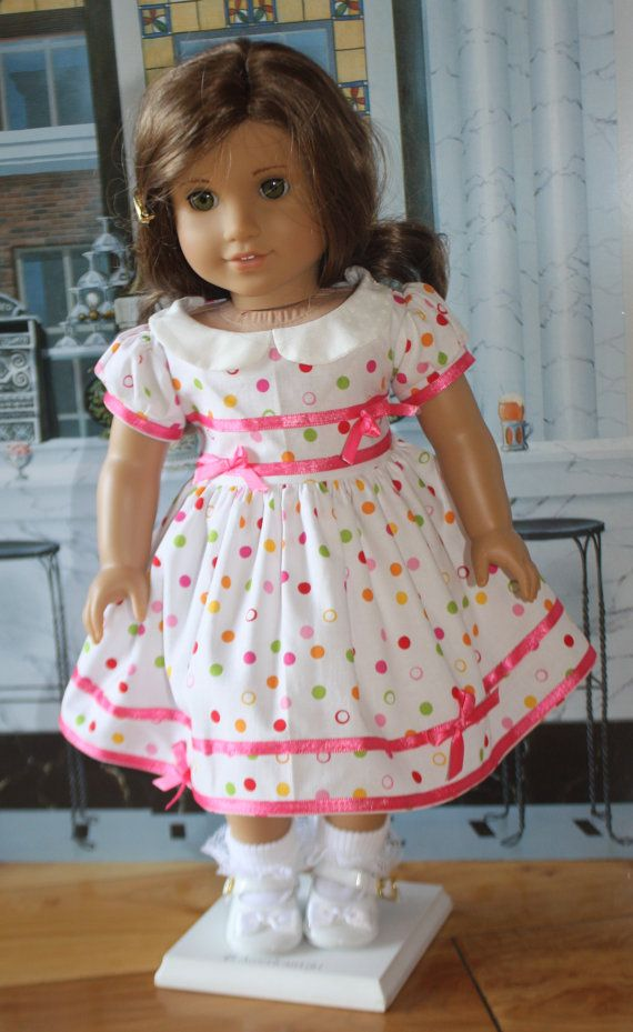 American Girl 1950s Pink Ribbon Dress by RuthielovestoSew on Etsy