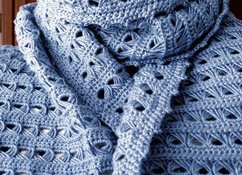 Broomstick lace scarf | broomstick lace