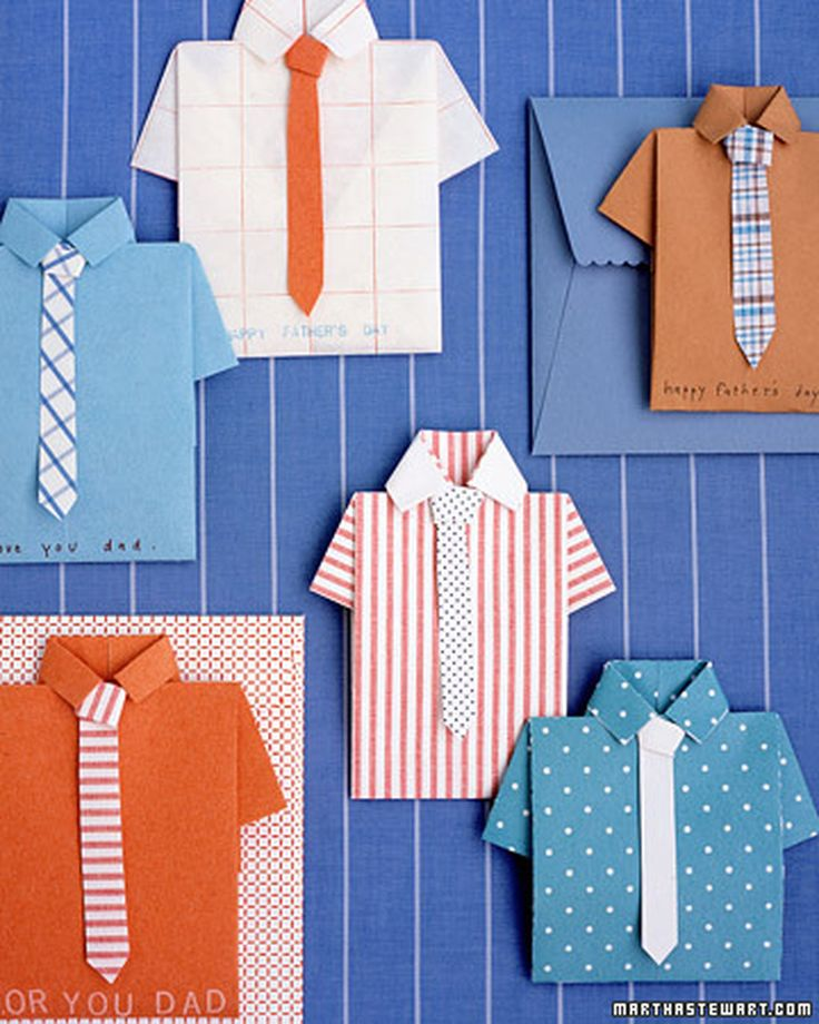 A shirt and tie is a traditional gift for Dad -- a card to match is something new.