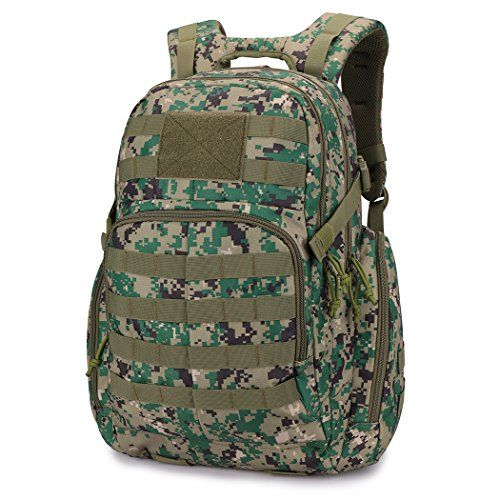 Mardingtop Tactical Backpack Military Backpack Molle Rucksack Assault Pack Bug Out Bag for Hunting Shooting Camping Hiking Traveling School (Camo Green) - Mardingtop Military Tactical Assault Pack Backpack Army Molle Waterproof Bug Out Bag Backpacks Small Rucksack for Men Product Fetures 90 DAYS LIMITED WARRANTY. Numerous Molle Loops. Velcro nametape and flag patches. Side cinched down gear security straps. Front Zipped Pocket- The zippered front p...