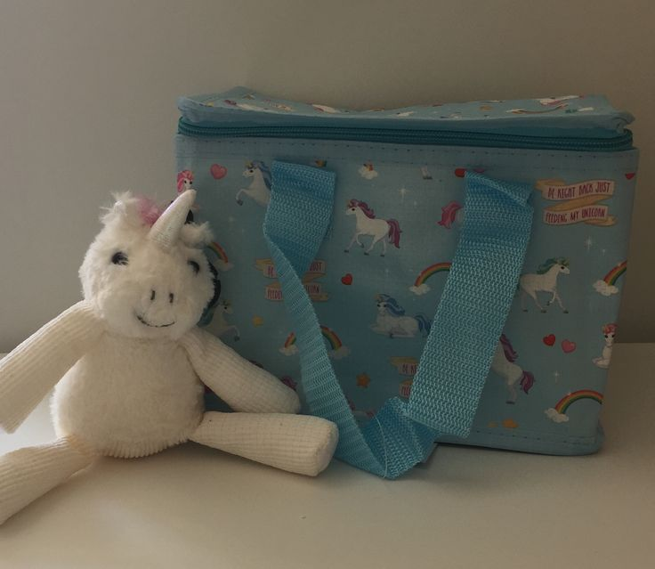 Unicorns and rainbow Lunch box/bag cool box/bag