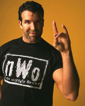 WWE - NWO = New World Order. Giving the Horned Hand/Satanic Salute