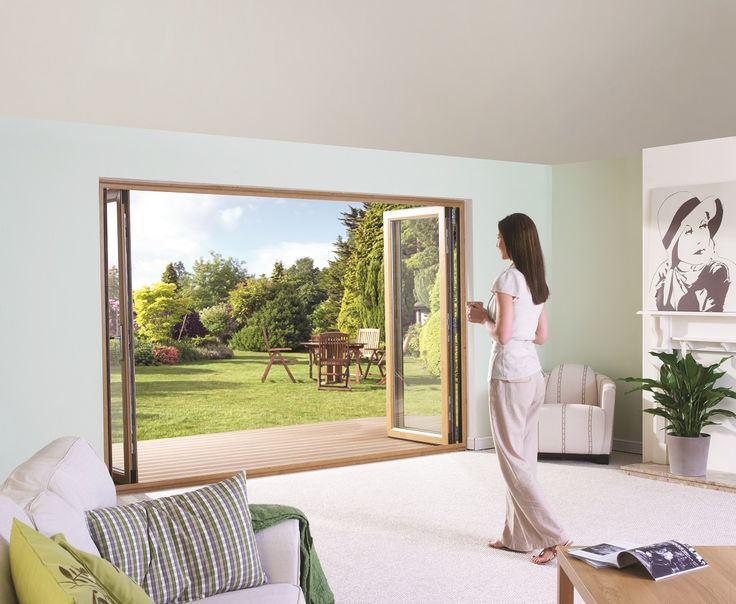 #4 Bi-Fold Doors come with triple weather seals and maximum versatility. http://www.eurocell.co.uk/homeowners/76/bi-fold-doors #Eurocell