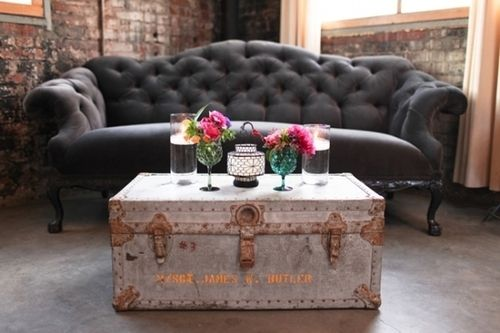 rustic Victorian decor ♥ Love this couch.