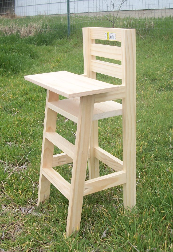 Painted wooden high chair - Cutest Baby Doll High Chair Do It Yourself Home Projects From Ana White