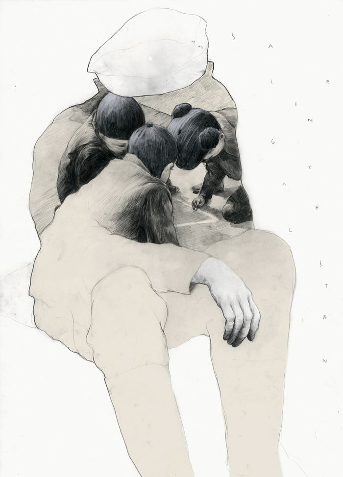 "Saarbrucken, Germany artist Simon Prades ""Catcher in the Rye"""