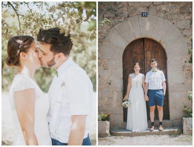 Marta y Julen, un novio en pantalones cortos