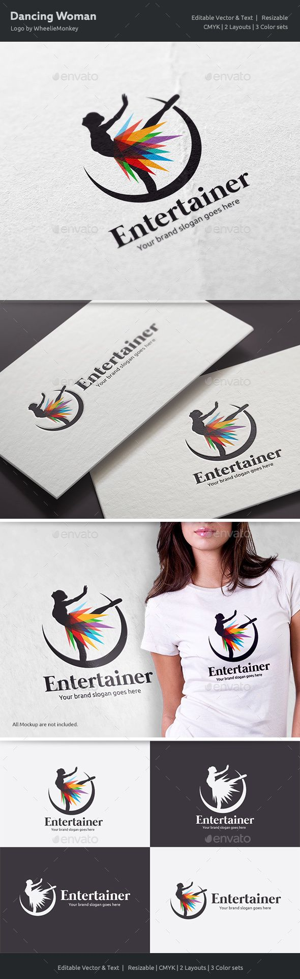 Dancing Woman Logo  — EPS Template #lady #clothing • Download ➝ https://graphicriver.net/item/dancing-woman-logo/18610836?ref=pxcr
