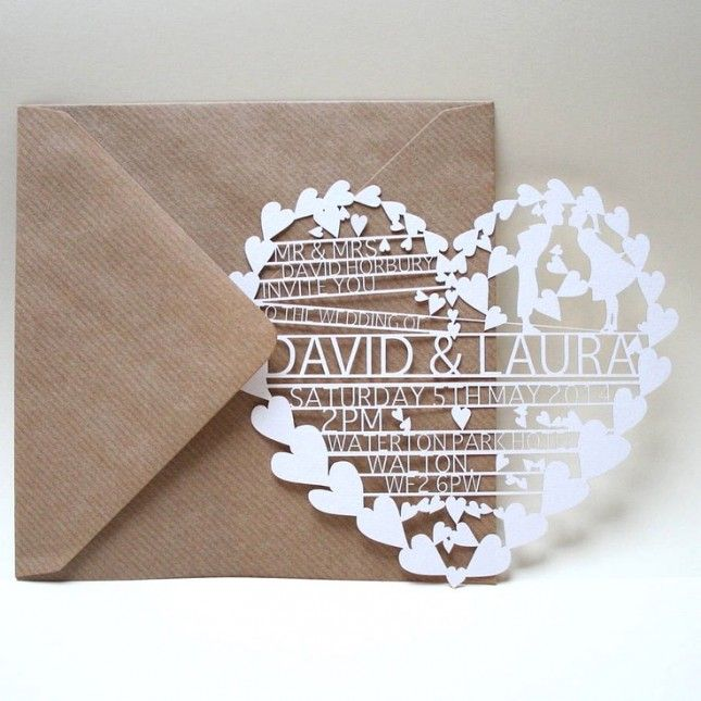 21 Of The Most Creative Wedding Invitations Ever Via Brit Co Party Ideas In 2018 Pinterest And Laser Cut