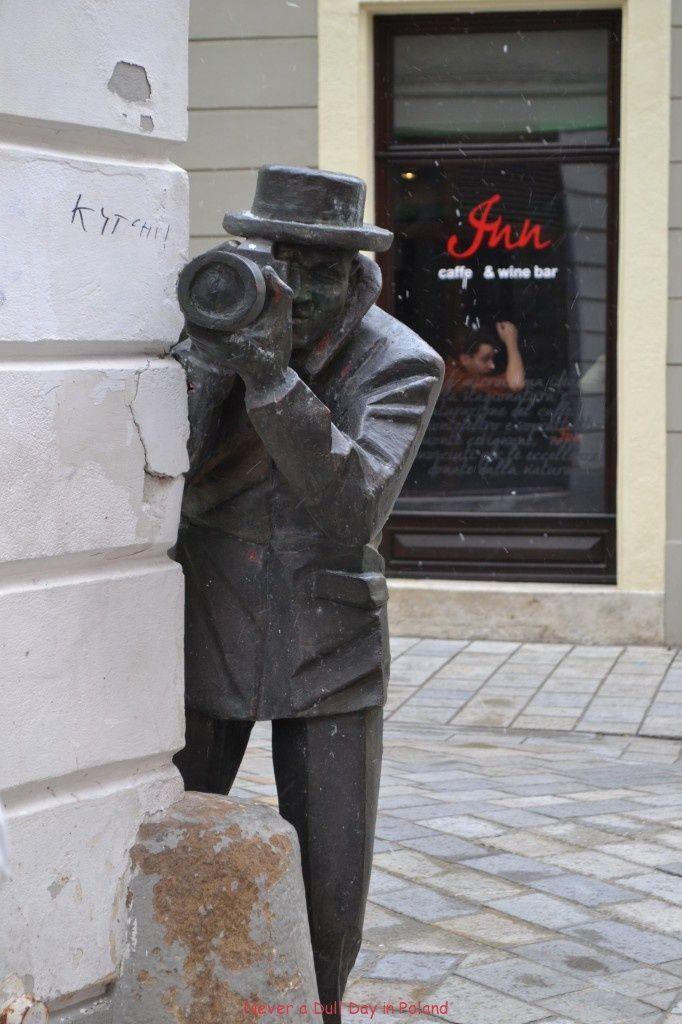 Bratislava, old town, the city of sculptures, Slovakia