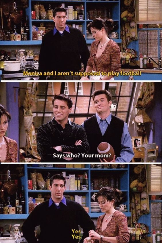 Ross,Monica,Joey and Chandler