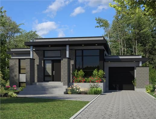 Lovely Contemporary House Plan #158 1263: 3 Bedrm, 1268 Sq Ft Home |  ThePlanCollection