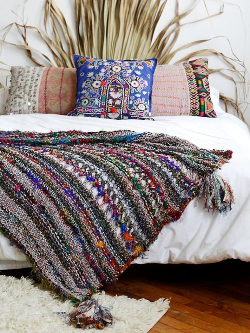 A little out there, but something organic like this for a headboard is creative