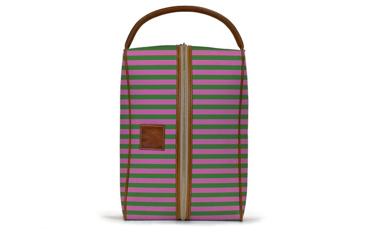 The Golf Shoe Bag - Rose and Green