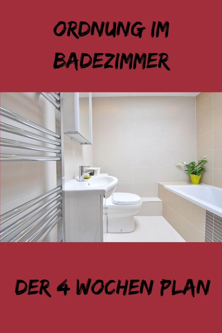 In 4 Wochen zum organisierten Badezimmer - mit Checkliste!