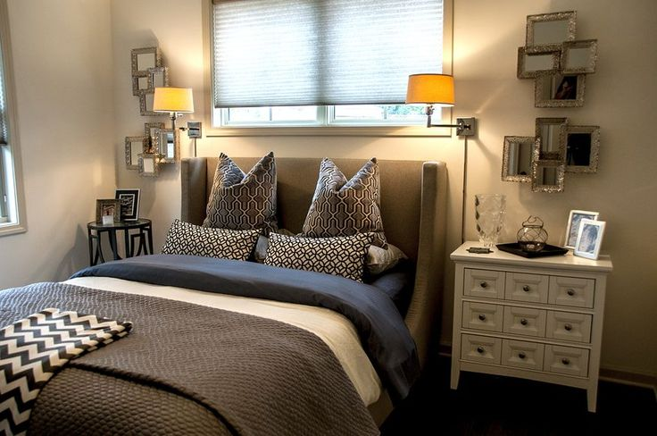 Combine patterns in your modern bedroom d cor to accent for Warm neutral paint colors for bedroom