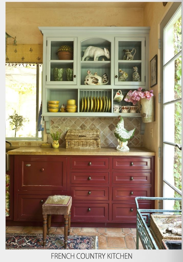 Country french colors work well 182 style pinterest for Country style kitchen nz
