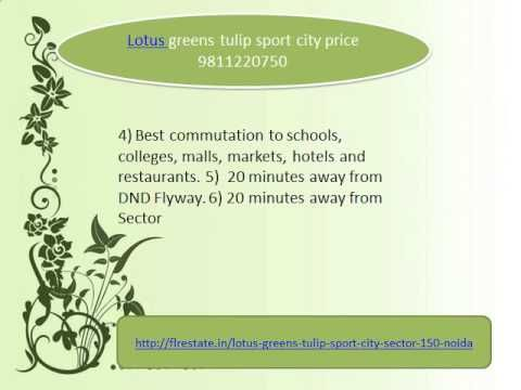 lotus greens tulip sport city 9811220750 price layout