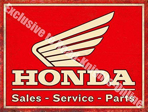 Honda Soldes Pièces De Service Auto Moto Métal/Panneau Mural Métalique – 30 x 40 cm