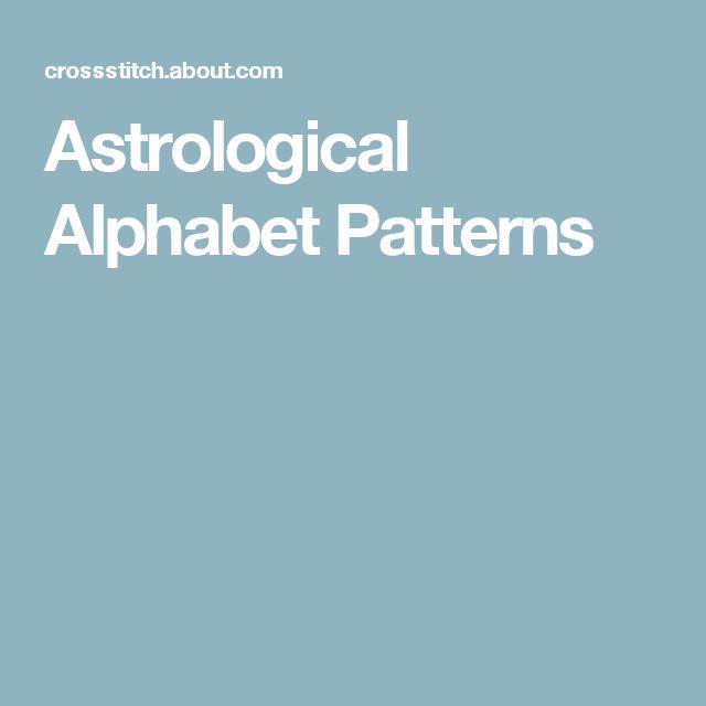 Astrological Alphabet Patterns
