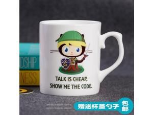 Mug Cup for Geek The programmer Glass Ceramic Mug Coffee Cup Gift Github Cup octopus cat theme