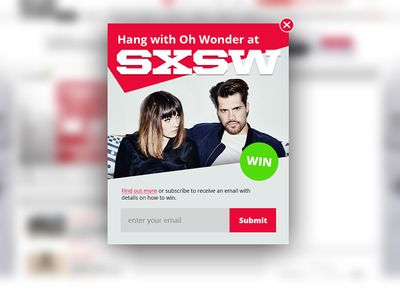 Oh Wonder Pop Up Overlay SXSW